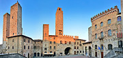 Tuscan Dusk Prints - San Gimignano Sunset Print by JR Photography