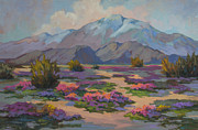 Verbena Paintings - San Jacinto and Verbena by Diane McClary