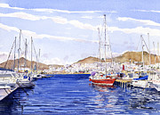 Andalucia Paintings - San Jose Marina by Margaret Merry