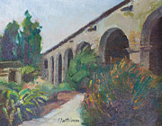 San Juan Paintings - San Juan Capistrano MIssion by Karla Bartholomew