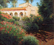 San Juan Paintings - San Juan Capistrano Mission by Mark  Gingerich