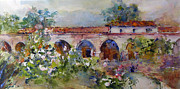 San Juan Paintings - San Juan Capistrano Mission by Rose Sinatra