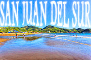 Sandy Beaches Digital Art Framed Prints - San Juan del Sur - NIcaragua Framed Print by Mark E Tisdale
