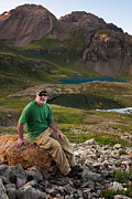 Copyright 2013 By Mike Berenson Photos - San Juan Selfie In Ice Lake Basin by Mike Berenson