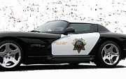 Tap On Photo Prints - San Luis Obispo County Sheriff Viper Patrol Car Print by Marcia Fontes Photography