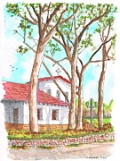 Church Prints Paintings - San Luis Obispo Mission in San Luis Obispo - California by Carlos G Groppa