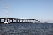 Hayward Art - San Mateo Bridge in The California Bay Area 5D21889 by Wingsdomain Art and Photography