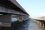 San Francisco Bay Prints - San Mateo Bridge in The California Bay Area 5D21898 Print by Wingsdomain Art and Photography