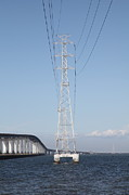 San Mateo Bridge In The California Bay Area 5d21909 Print by Wingsdomain Art and Photography
