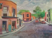 Perspective Paintings - San Miguel Siesta by Maria Milazzo