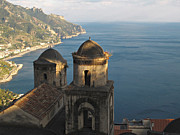 Mediterranean Landscape Prints - San Pantaleone Church in Ravello Print by Kiril Stanchev