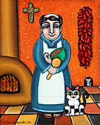 Catholic Art Originals - San Pascual and Felix by Victoria De Almeida