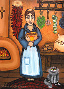 Kitchen Saint Posters - San Pascual BAD KITTY Poster by Victoria De Almeida