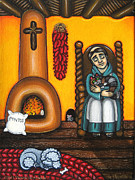 Saint Of Cooks Paintings - San Pascuals Nap by Victoria De Almeida