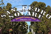 Squares Art - San Pedro Square Gate San Jose California 5D25232 by Wingsdomain Art and Photography