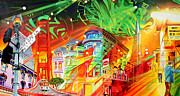 San Francisco Painting Metal Prints - San Phranphisco Metal Print by Joshua Morton