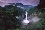 La Coca Waterfall Prints - San Rafael Falls On The Quijos River Print by Pete Oxford