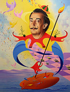 Salvador Dali  Paintings - San Salvador Dali by Hans Doller