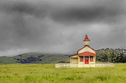 Robert Jensen Art - San Simeon Schoolhouse by Robert Jensen