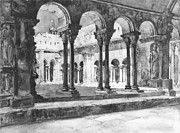 Caryatids Framed Prints - San Trophine Cloister Arles France 1888 Framed Print by Padre Art