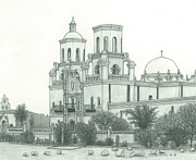 Tucson Originals - San Xavier Del Bac Mission by Jennifer Slouha