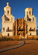 Desert Metal Prints - San Xavier Mission Metal Print by Mike  Dawson