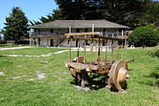 Carts Prints - Sanchez Adobe Pacifica California 5D22653 Print by Wingsdomain Art and Photography
