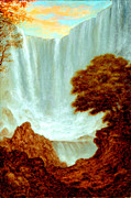 Waterfalls Paintings - Sanctuary by Eric Bakke