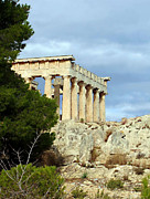 Ancient Greek Ruins Posters - Sanctuary of Aphaia 2 Poster by Ellen Henneke