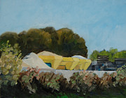 Netherlands Paintings - Sand and gravel storage in Borculo the Netherlands by Ernst Dingemans