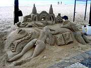 Jay Milo - Sand Art On Copacababa...