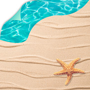 Sandy Posters - Sand Background Poster by Christopher and Amanda Elwell