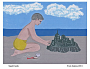 Sand Castles Framed Prints - Sand Castle Framed Print by Fred Jinkins