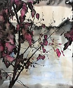 Leaves Tapestries - Textiles - Sand Creek by Carolyn Doe