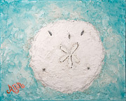 Shell Texture Painting Prints - Sand dollar Print by Ann Lutz