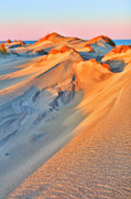 Oats Prints - Sand Dune Sunset - Outer Banks Print by Dan Carmichael