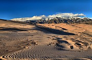 Colorado National Parks Prints - Sand Dune Textures Print by Adam Jewell