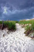 Sandy Shore Prints - Sand Dune under Storm Print by Olivier Le Queinec