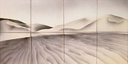 Sand Dunes Painting Framed Prints - Sand-dunes 2 Framed Print by Jan Morrison