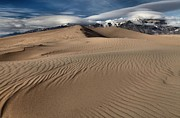 Colorado National Parks Prints - Sand Dunes And UFOs Print by Adam Jewell