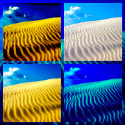 Sand Dunes Framed Prints - Sand Dunes Collage Framed Print by Susanne Van Hulst
