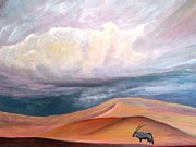 Sand Dunes Paintings - Sand Dunes Namibia by Mike Rigby