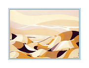 Sand Dunes Painting Framed Prints - Sand Dunes Framed Print by Santi  Arts