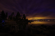Night Photography Photos - Sand Harbor Lake Tahoe Astrophotography by Scott McGuire