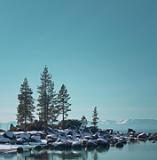 Winter Scene Prints - Sand Harbor-Lake Tahoe Print by Kim Hojnacki