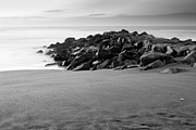 Brian Carr-rollitt Prints - Sand rocks sea and sky Print by Brian Carr-Rollitt
