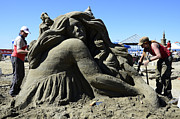 Sand Castles Metal Prints - Sand Sculpture 1 Metal Print by Bob Christopher