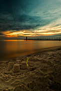South Haven Framed Prints - Sandcastle sunset Framed Print by Todd Bielby