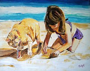 Tropical Painting Originals - Sandis Helper by Judy Kay