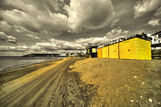 Sheds Prints - Sandown Beach Print by Rob Hawkins